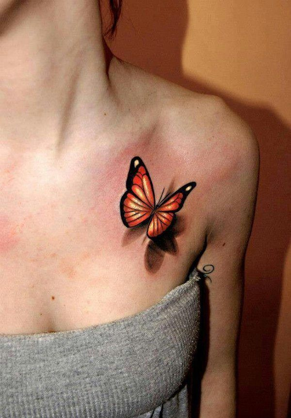 f356ab3bb The beautiful butterfly tattoo is a great pick and appears nicely on the  chest. It is a great tattoo idea for women and will for sure leave men  staring.