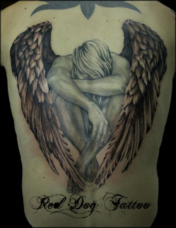 987c3977f 60 Best Angel Tattoos – Meanings, Ideas and Designs for 2019