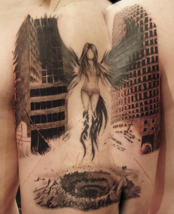 60 best angel tattoos meanings ideas and designs for 2018. Black Bedroom Furniture Sets. Home Design Ideas