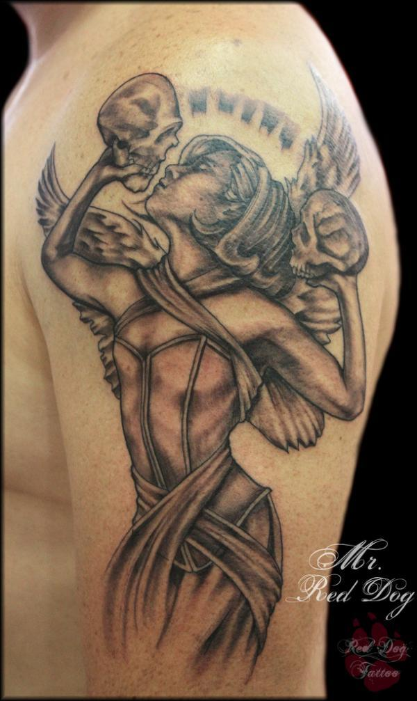 943e33d985a39 60 Best Angel Tattoos – Meanings, Ideas and Designs for 2019