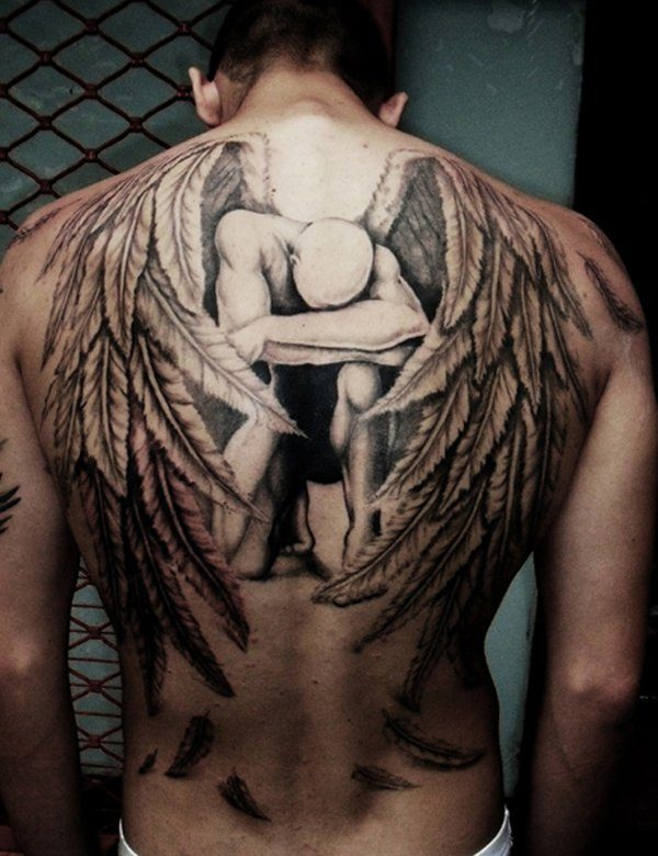 f65fad7920054 60 Best Angel Tattoos – Meanings, Ideas and Designs for 2019