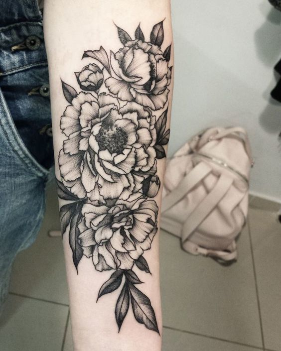 32 Best No Line Flower Tattoo Images On Pinterest: Meanings, Ideas And Designs For 2019