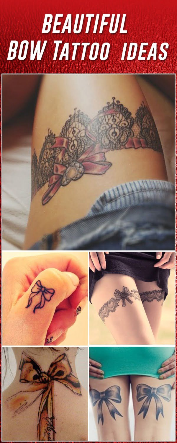60 sexy bow tattoos meanings ideas and designs for 2018. Black Bedroom Furniture Sets. Home Design Ideas