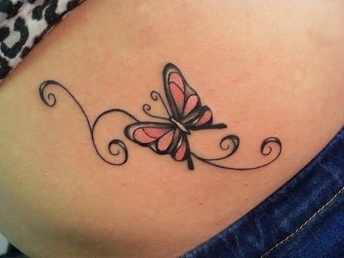 Amazon.com : Butterfly Tattoos Stickers Fashion Tattoo Design ...   375x500