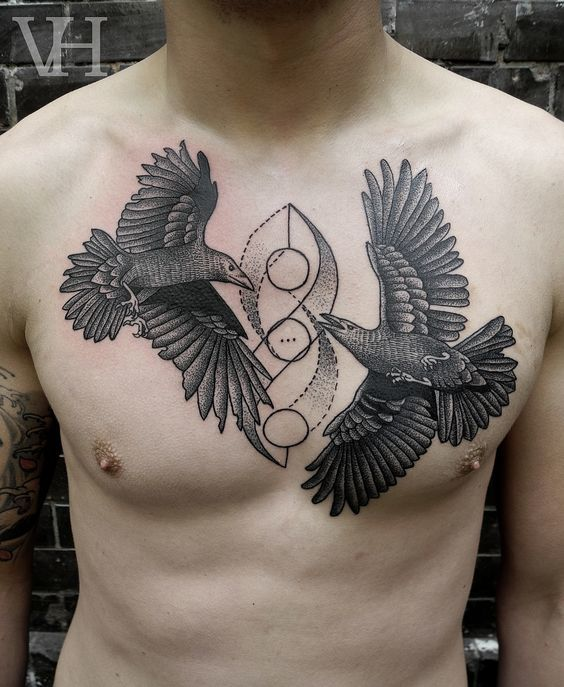 Middle Chest Tattoo: Meanings, Ideas And Designs For 2019