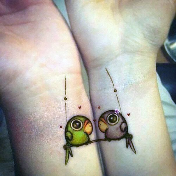 60 best couple tattoos meanings ideas and designs 2018 for Best couples tattoos