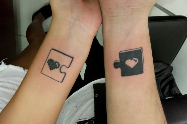 60 best couple tattoos meanings ideas and designs 2016 for Yin yang couples tattoos