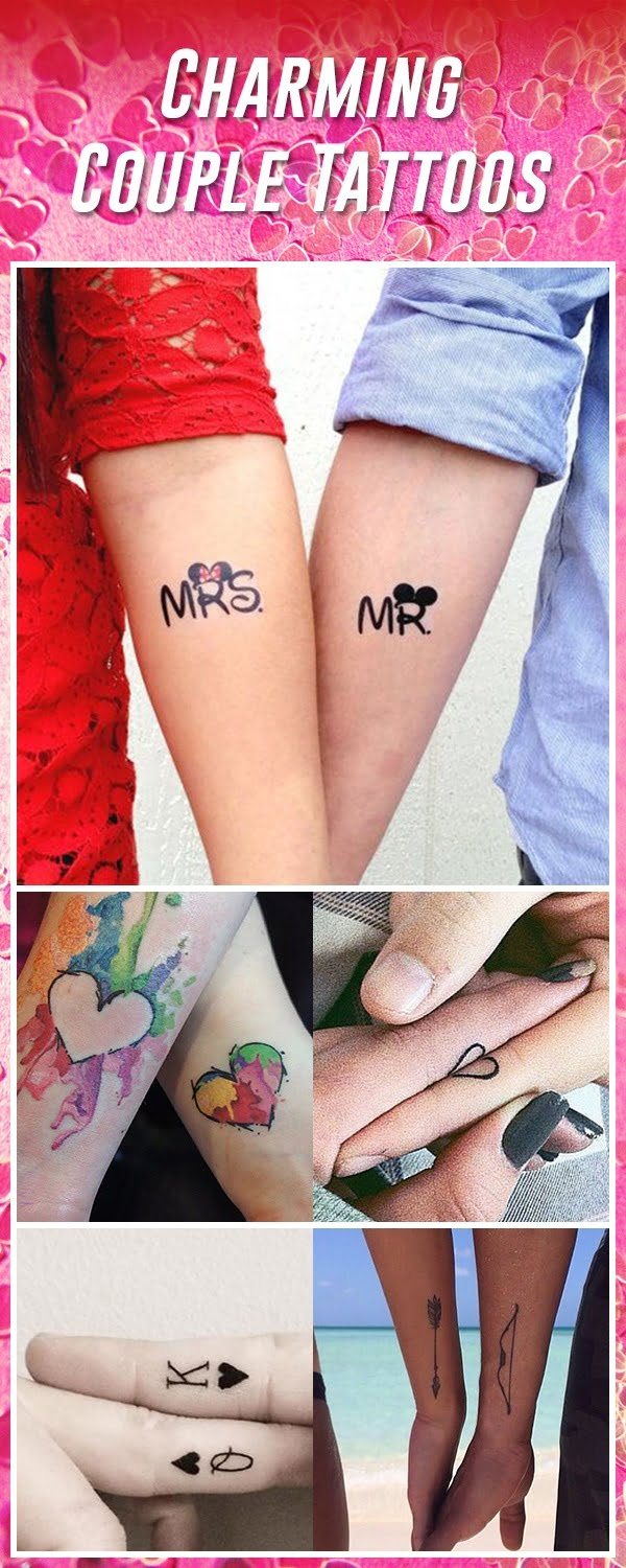 8644e0c49d078 60 Best Couple Tattoos – Meanings, Ideas and Designs 2019
