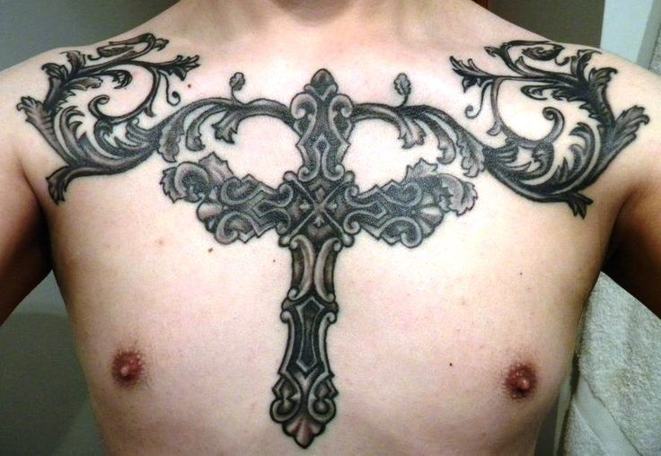 60 best cross tattoos meanings ideas and designs 2016 for Embossed tattoo designs
