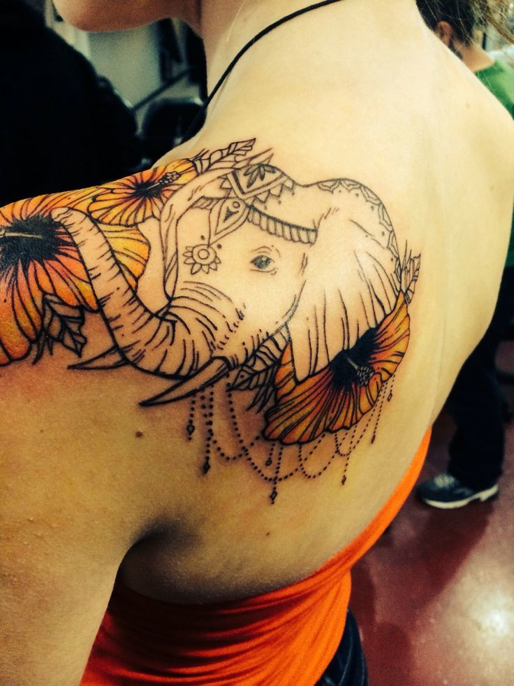60 best elephant tattoos meanings ideas and designs 2018. Black Bedroom Furniture Sets. Home Design Ideas