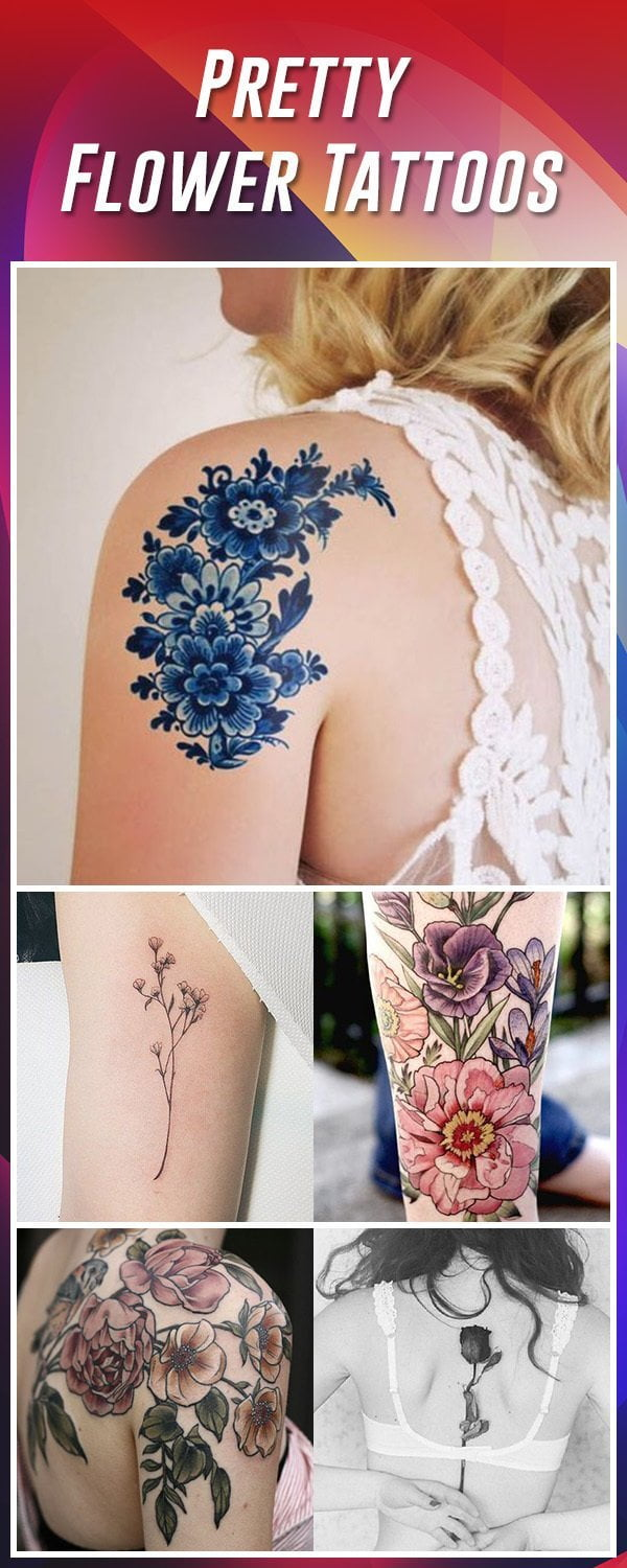 60 best flower tattoos meanings ideas and designs for 2018 flower tattoo ideas izmirmasajfo