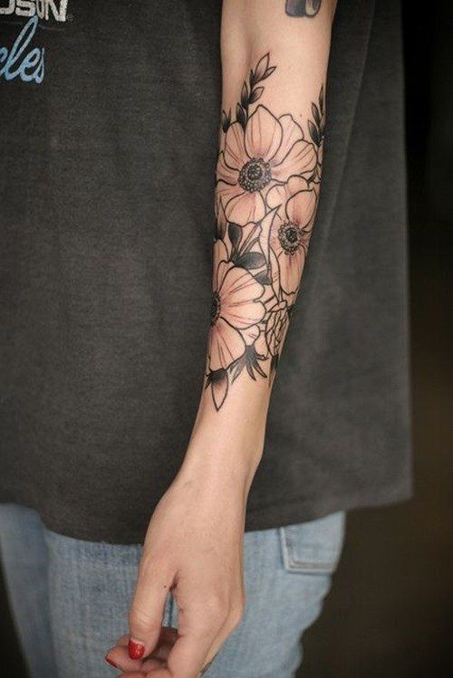 Flower Arm Tattoos: Meanings, Ideas And Designs For 2019
