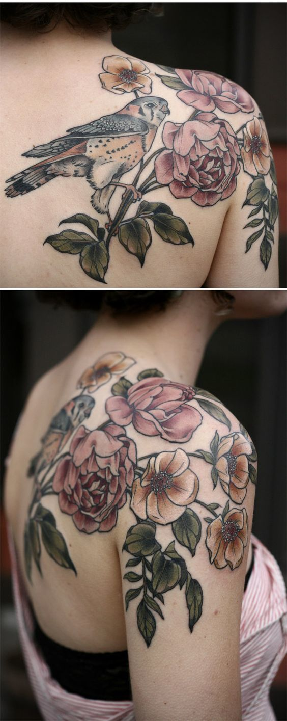 Flower Shoulder Tattoo: Meanings, Ideas And Designs For 2016