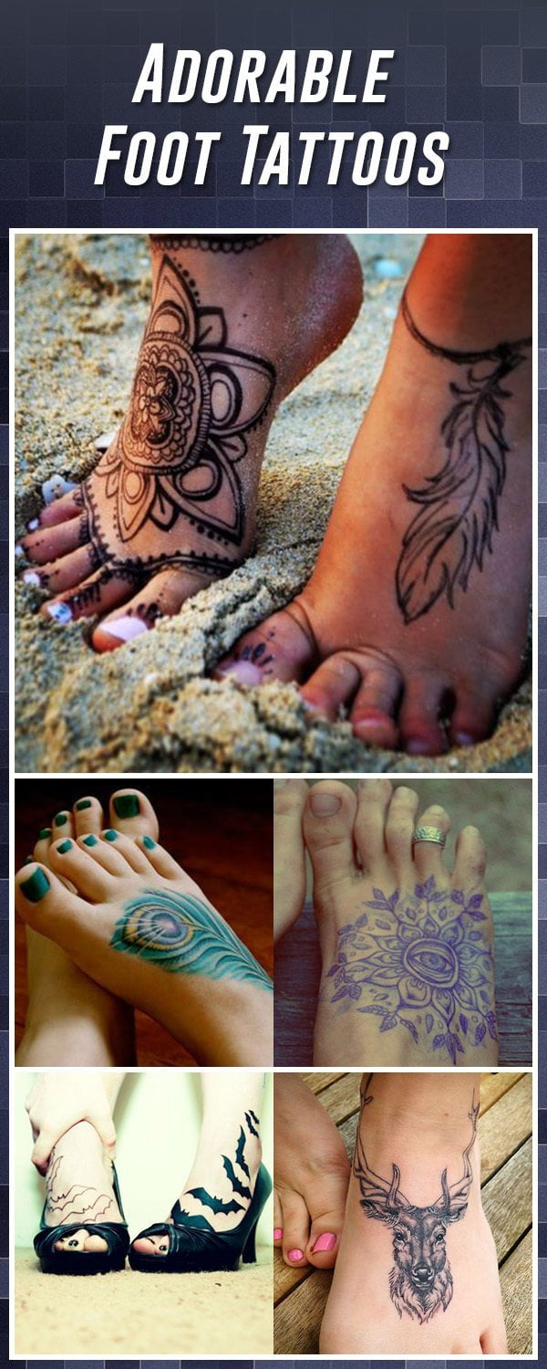 3a3719ed31a53 60 Best Foot Tattoos – Meanings, Ideas and Designs for 2019