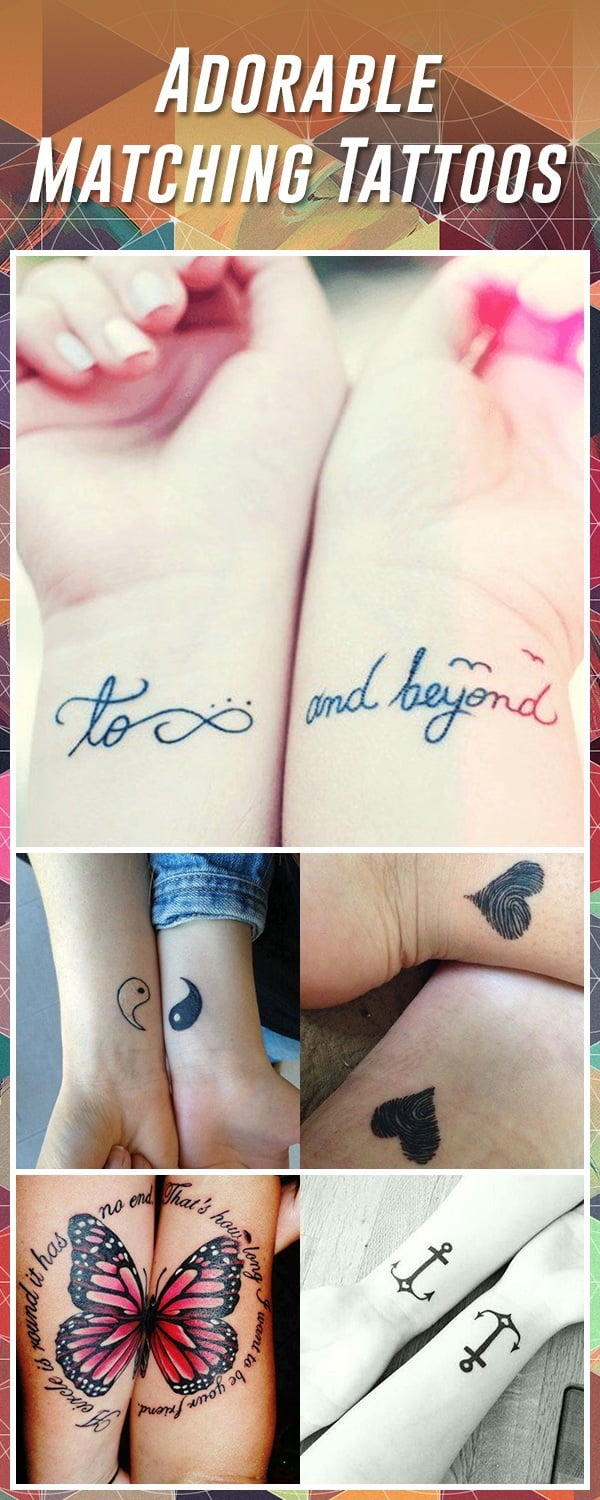 e44f6b577cb33 60 Best Matching Tattoos – Meanings, Ideas and Designs 2019