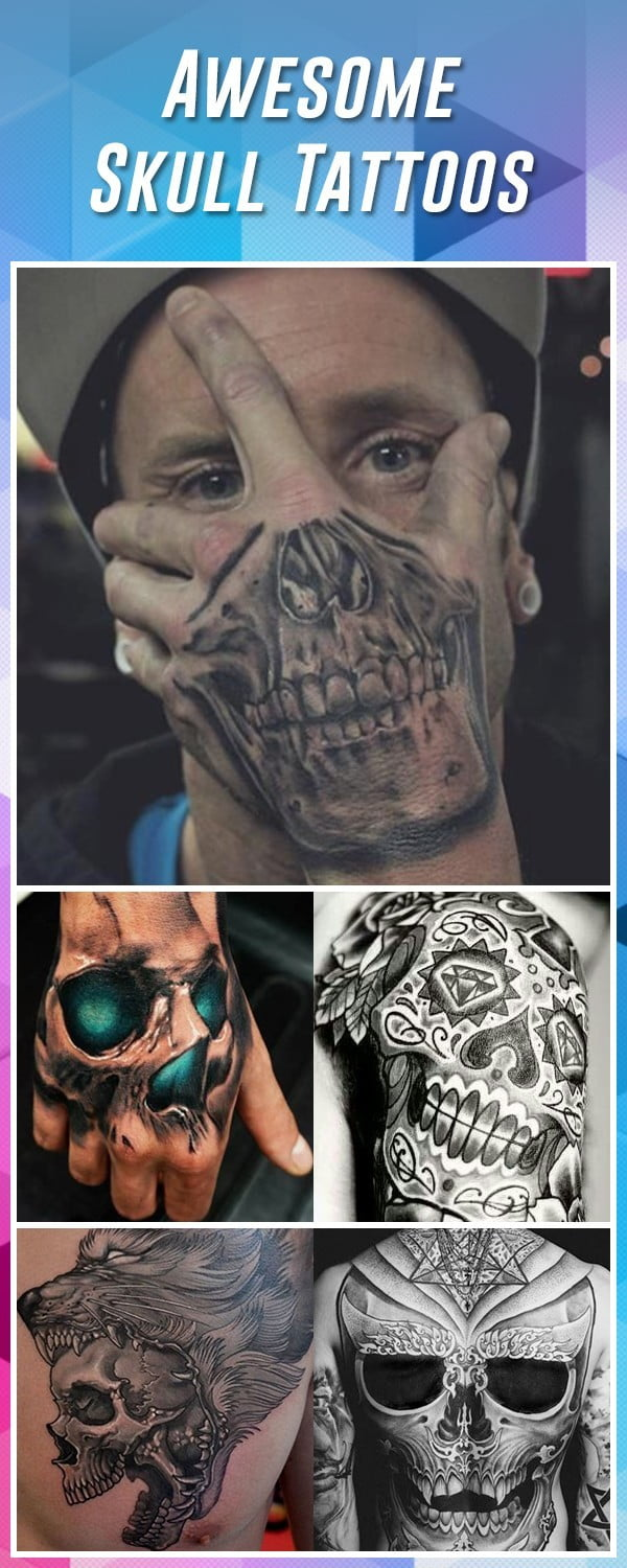7836a960564b5 60 Best Skull Tattoos – Meanings, Ideas and Designs 2019