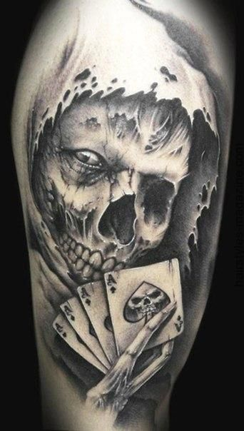 60 best skull tattoos meanings ideas and designs 2018. Black Bedroom Furniture Sets. Home Design Ideas