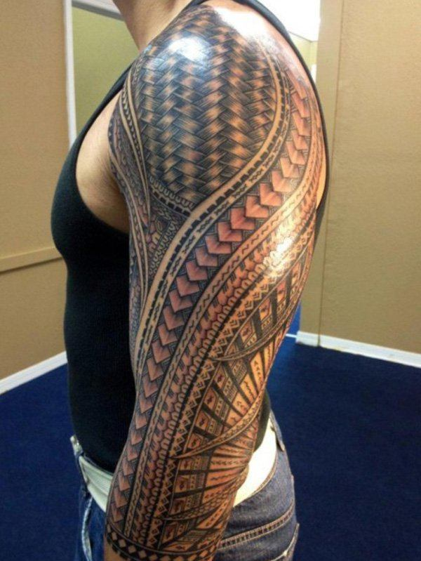 60 best tribal tattoos meanings ideas and designs 2018 for How to blend tattoos into a sleeve