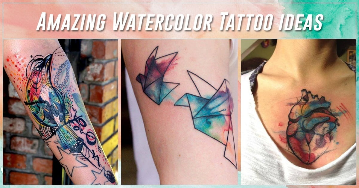 a8baa670f 60 Best Watercolor Tattoos – Meanings, Ideas and Designs for 2019