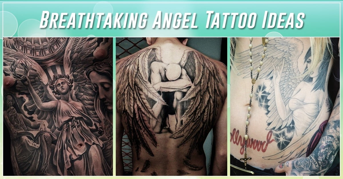 4bd915aafe0d1 60 Best Angel Tattoos – Meanings, Ideas and Designs for 2019